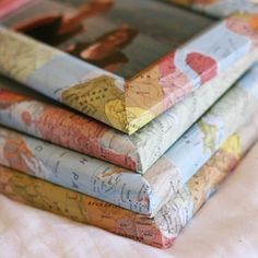 Maps !!! A simple and elegant way to decorate bland picture frames