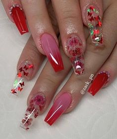 145 pretty nail art designs for any occasion 3 Red Acrylic Nails, Summer Acrylic Nails, Gel Nails, Coffin Nails, Pastel Nails, Manicure, Cute Acrylic Nail Designs, Nail Art Designs, Nails Design