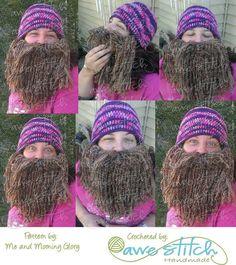 Duck Dynasty Crochet Hat & Beard PATTERN PDF by meandmorningglory