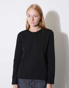 Cotton long sleeve t-shirt by commes des garcons commes des garcons. Strlk M. Nittygritty.se