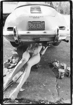 Porsche 356 girl mechanic