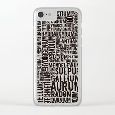 #Chemical #Elements #Clear #iPhone #Case https://society6.com/product/chemical-elements_clear-case#s6-6086178p56a72v512a73v516 #society6