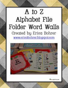 Erica Bohrer's First Grade: File Folder Word Walls