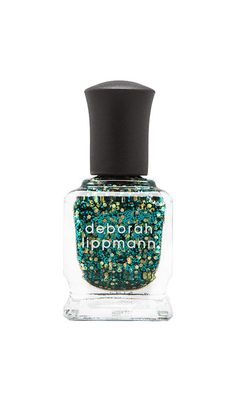 Emerald glitter nails
