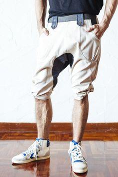 VALO KESÄ - Cream Cotton Twill - Drop crotch capri shorts - Unisex | VALO