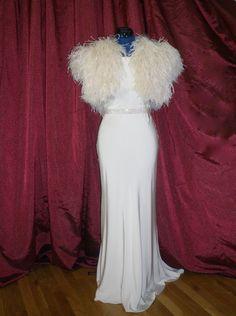Ostrich feather shrug $495