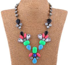 Charming Glass Drill High Quality Vintage Women Ladies Collar Chokers Necklace Jewelry