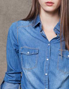 Camicia jeans - CAMICIE - DONNA | Stradivarius Italia