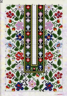 Beading _ Pattern - Motif / Earrings / Band ___ Square Sttich or Bead Loomwork ___ irinask. Cross Stitch Love, Cross Stitch Borders, Cross Stitch Flowers, Cross Stitch Charts, Cross Stitch Designs, Cross Stitching, Cross Stitch Embroidery, Hand Embroidery, Cross Stitch Patterns
