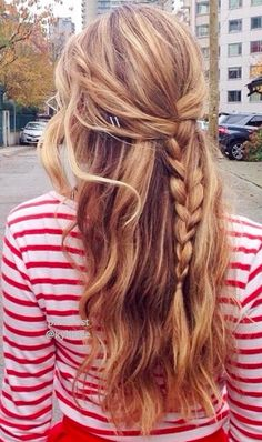 This is a great causal hairstyle