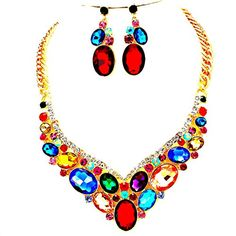 Affordable Wedding Jewelry Multi Color Ab Austrian Crystal Oval Cluster Gold Chain Necklace Post Earrings Set Bridal Pageant Affordable Wedding Jewelry http://www.amazon.com/dp/B017C2VF3E/ref=cm_sw_r_pi_dp_h67mwb0BS4G04