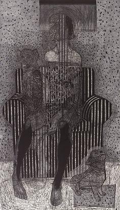 Joanna Piech // Wiem wszystko // I Know Everything // linoryt | linocut / 157 × 90 cm //  Polska | Poland
