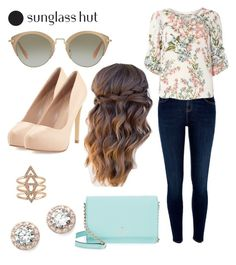 """""""Shades of You: Sunglass Hut Contest Entry"""" by gdb20 ❤ liked on Polyvore featuring Kate Spade, Charles by Charles David, Miu Miu, Nordstrom, River Island, Billie & Blossom and shadesofyou"""