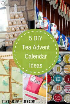 Feeling crafty? Count down to Christmas with one of these awesome DIY #tea advent calendars.