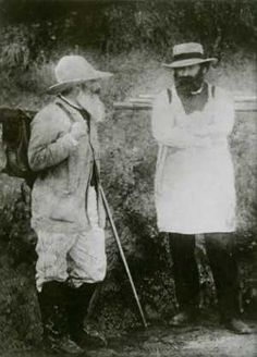 Camille Pissarro and Paul Cézanne  c. 1873