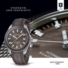 Scafograf 100 by Eberhard & Co. : Strength, Multifaceted Personality and Femininity  #eberhard_co #eberhardwatches #eberhard #scafograf100