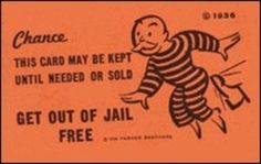 """Monopoly-style """"get out of Jail free card"""" that reads, """"Don't take a Chance. Keep Donald Trump's Get out of Jail Free card OFF the supreme court! Stop Kavanaugh! Call your Senators: Jail Meme, Facebook Jail, Bail Money, Criminal Defense, Getting Out, Funny Posts, Drugs, Jokes, Humor"""