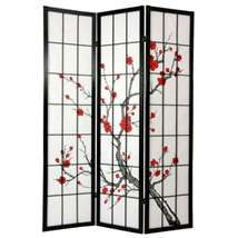 The Oriental Furniture Cherry Blossom 84 inch Shoji Screen Room Divider is a unique way to dress up any space. This divider stands 84 inches tall and.