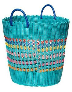 COLOR BASKET turquoise   Gardening   Various Interior   Interior   INDISKA Shop Online Straw Bag, Indie, Basket, Paper Crafts, Turquoise, Fashion Outfits, Boho, Clothes For Women, Interior Design