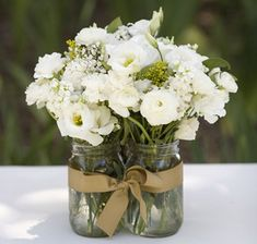 mason jar rustic wedding centerpiece
