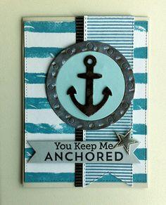 Card nautical - Let´s get nautical MFT Dienamics dies, Go overboard Stamp