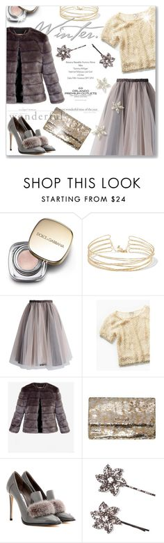 """Faux Fur"" by cilita-d ❤ liked on Polyvore featuring Dolce&Gabbana, Kenneth Jay Lane, Chicwish, Free People, Ted Baker, Dorothy Perkins, Jimmy Choo and Jennifer Behr"
