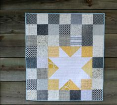 cute baby quilt. could do with VS scraps and star center with embroidered name - 100 quilts for kids