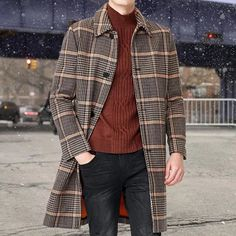 Sale*Men's Coat – Page 2 – Dayclever Dandy Style, Long Overcoat, Gentleman Style, British Style, Business Fashion, Latest Fashion Clothes, Mens Suits, Leather Men, Mens Fashion