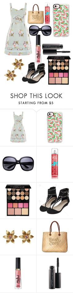 """Untitled #11397"" by ohnadine ❤ liked on Polyvore featuring Oasis, Casetify, NYX, La Perla, White Stuff and MAC Cosmetics"