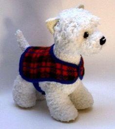 Alan Dart's wonderful dog patterns knitted  http://www.alandart.co.uk/product/all-patterns/wesley-westie/