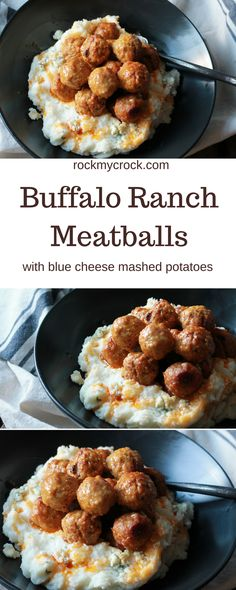... MEATBALLS WITH BLUE CHEESE MASHED POTATOES! OMG! yum, yum, yum
