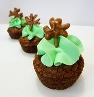 Just Call Me Maria: Mint Baileys Brownie Bites St. Patricks Day food / desserts / food