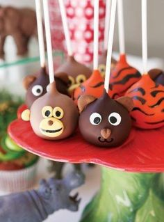 Jungle animal cake pops - how sweet! - Belle's Patisserie