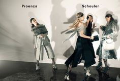 Anne Catherine Lacroix, Karolin Wolter, Liisa Winkler, Liya Kebede by David Sims for Proenza Schouler Fall Winter 2015-2016 3