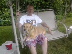 This is my husband bill and our dog, Riley this is the man I love so much, he always keep going in the hospital,  he is back in again now. Please go on my funds and help my bill, its gofundme.com or go on www.crowdries.com any funds would help my husband bill. We thank you to anyone that can help us. Its for the new pill that the insurance wont pay on, like I say doctors are trying hard to get this through,  but mean time my husband is so in pain. And he can die, please can a angle come down…