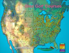 Not sure on the accuracy, but interesting nonetheless.   Geography of Disc Golf
