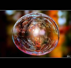 """""""The Planet is Like A Soap Bubble""""  Soap Bubble Photography  by Arshad Cini"""