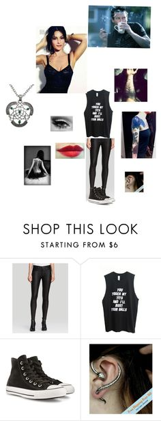 """""""Jace: Jace Here! Lead Guitarist Of Arch Enemy!"""" by i-am-emo-scene-goth ❤ liked on Polyvore featuring True Religion, Converse, Vanity Fair and Carolina Glamour Collection"""
