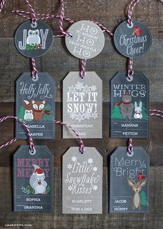 Free printable Christmas labels and tags