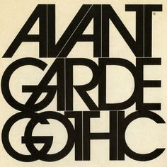 Brochure promoting the Avant Garde Gothic typeface, designed by Herb Lubalin and Tom Carnase. Brochure designed by Bob Farber, 1971.