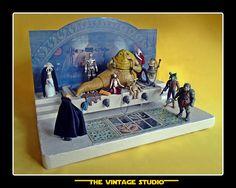 Vintage Kenner Custom Jabba the Hutt´s Throne Room Playset Environment diorama Jabba The Hutt, Throne Room, Star Wars Action Figures, Star Wars Toys, Star Wars Collection, Geek Stuff, Stars, Studio, Environment