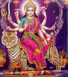 Maa Chandi is the total energy of the universe. Durga Picture, Maa Durga Photo, Maa Durga Image, Shiva Parvati Images, Durga Images, Shiva Shakti, Maa Durga Hd Wallpaper, Durga Ji, Vaishno Devi