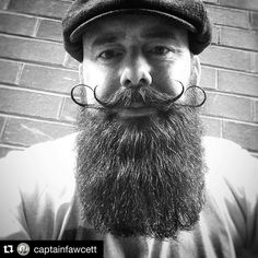 Blown away to be featured on @captainfawcett IG feed today and some exceptional comments from the master himself . If you are a man and are in possession of a beard and do not own at least one bottle of the Captains brew then what the hell are you playing at?? Head on over and check them out - cant recommend the booze n baccy enough . #Repost @captainfawcett  @papalazzarou has mastered the double moustache curl. This is exquisite Sir! Bravo.  #dearchums #moustache #mustache #moustachewax…