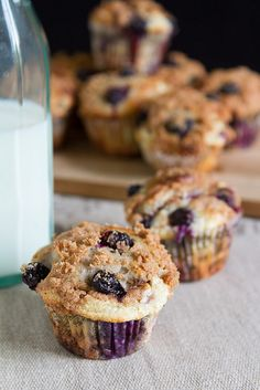 Blueberry Cheesecake Yogurt Muffins with Cinnamon Streusel
