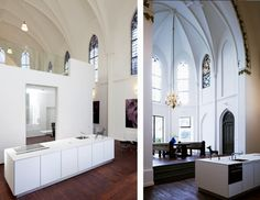 former church in Utrecht, Netherlands that has been converted into a private home by Zecc Architects