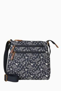 Buy FatFace Dragonfly Floral Canvas Cross Body Bag from the Next UK online shop Latest Fashion For Women, Mens Fashion, Fat Face, Blue Bags, Next Uk, Uk Online, Crossbody Bag, Cross Body, Moda Masculina