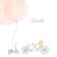Faire-part de naissance À bicyclette (1 enfant) photos by My Lovely Thing pour www.fairepartnaissance.fr #birth #announcement
