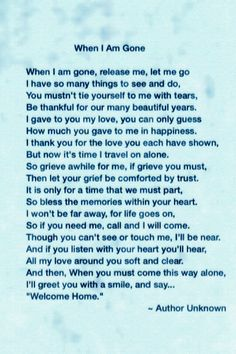 Esther, I'm so sorry to hear of your loss. I was able to find the poem that your sister found in your mother's bible. I thought you might all like to print it out and have a copy of it. I hope it brings you some comfort during this difficult time. My thoughts and prayers are with you and your family. Take care and God Bless. ♥️ Trudi