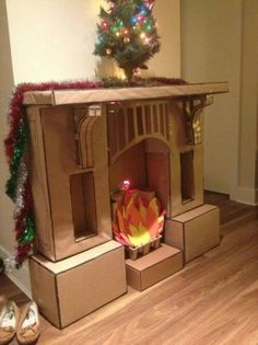 Funny pictures about Epic Cardboard Fireplace. Oh, and cool pics about Epic Cardboard Fireplace. Also, Epic Cardboard Fireplace photos. Christmas Time, Christmas Crafts, Christmas Decorations, Merry Christmas, Christmas Grotto Ideas, Holiday Fun, Christmas Program, Office Christmas, Xmas Ideas