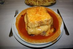 Francesinha - I love these and no Portuguese place around here makes them. :( I guess that's a good thing.
